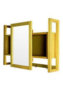 Armario Aereo C/ Espelho Troia Estrutura Amarelo 86Cm - 61430 Amarelo