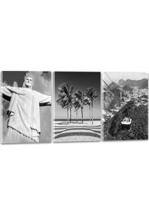 Quadro Oppen House 60X120Cm Pontos Turísticos Cidade Rio De Janeiro
