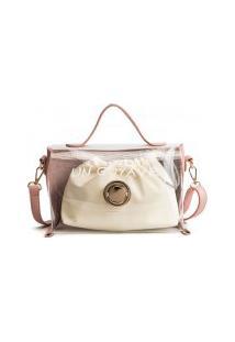 Bolsa Qfy Com Nécessaire Bag - Rosa