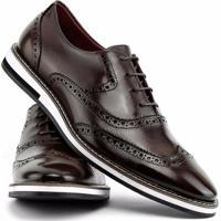 622f37174 Sapato Social Gofer Com Cadarço Solado De Couro Masculino - Masculino-Marrom