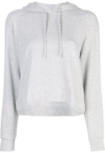 Majestic Filatures Cropped Hoodie - Cinza