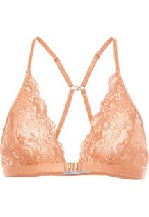 Top Decotado Renda Fyi - Nude