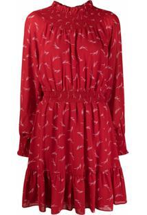 Michael Michael Kors Vestido Com Estampa Abstrata - Vermelho