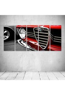 Quadro Decorativo - Car Red - Composto De 5 Quadros - Multicolorido - Dafiti