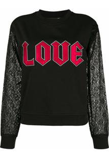 Love Moschino Blusa De Moletom 'Love' - Preto