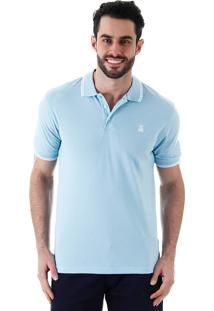 Camisa Polo Masculina Broken Rules - Azul