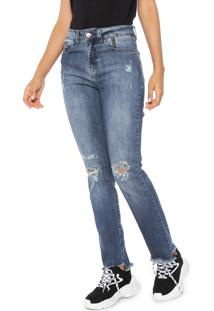 51a838591 ... Calça Jeans Ellus 2Nd Floor Slim Assimétrica Azul