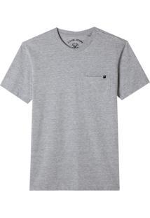 Camiseta John John Pocket Basic Algodão Cinza Mescla Masculina (Mescla Claro, P)
