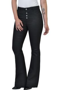6d636951a ... Calça Flare Jeans Resinada Black Yck'S
