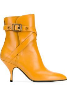 Bottega Veneta Ankle Boot De Couro - Laranja