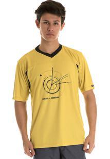 Camisa Konciny Decote V Dry Fit Amarelo