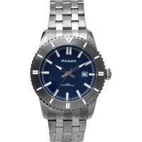 6fa303d02ca Relógio Akium Masculino Aço Cinza - G7093 Ss Vd53 Grey