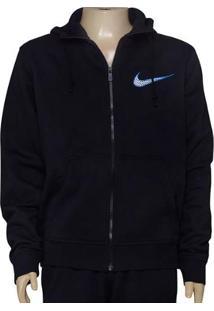 Casaco Masc Nike 727757-010 Club Fleece Swoosh Full Preto