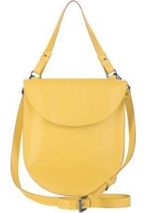 Bolsa Couro Tom21 Hera Feminina - Feminino-Amarelo