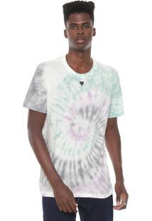 Camiseta Cavalera Tie Dye Off-White/Verde