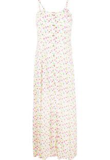 C'Est La V.It Dotted Button-Up Dress - Branco