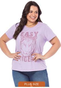 T-Shirt Feminina Easy Tiger Lavanda