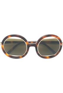 e75b3b5b470f9 ... Marni Eyewear Óculos De Sol Oversized - Marrom