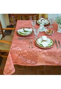 Toalha De Mesa Retangular Realeza Rosa (150X210)