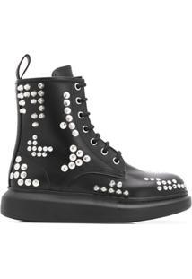 Alexander Mcqueen Ankle Boot Hybrid - Preto