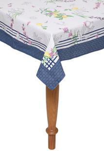 Toalha De Mesa Karsten Quadrada Cada Dia Siciliano 1,40X1,40M Branca/Azul