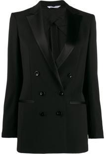Tonello Tuxed Double Breasted Blazer - Preto