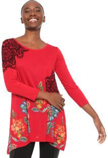 Blusa Desigual Ramona Vermelha