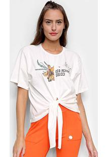Camiseta Colcci Eco Active Feminina - Feminino-Marrom