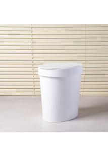 Lixeira Oval 5L Polietileno Branco Brinox