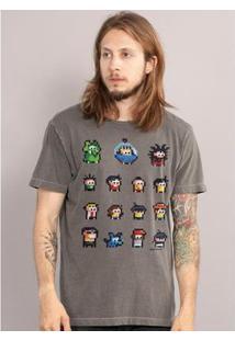 Camiseta Bandup! Turma Da Mônica Guarda Dos Coelhos Premium - Masculino-Cinza