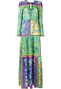 Philosophy Di Lorenzo Serafini Vestido Longo Com Estampa - Verde