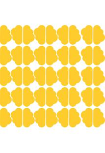 Adesivo De Parede Nuvens Amarelas 45Un