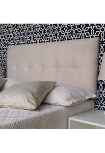 Cabeceira Painel Veneza Suede Liso Bege Queen 160 X 60