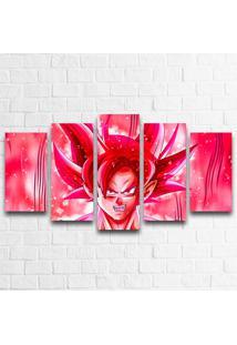Quadro Decorativo Goku Super Saiyan God