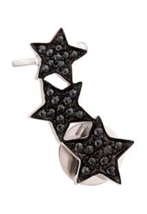 Alinka Ear Cuff De Ouro Branco 18K Com Diamantes - Metálico