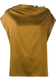 Lanvin Blusa Com Drapeado - Verde