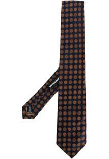 Dsquared2 Gravata De Seda Com Bordado Floral - Azul