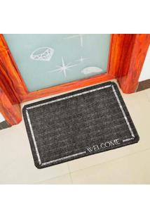 Capacho Carpet Welcome Cinza