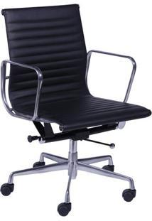 Cadeira Office Eames Baixa Giratã³Ria- Preta- 105X61Xor Design