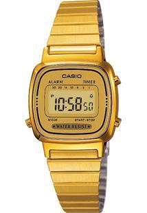 9bb32881070 Relógio Digital Casio Dourado feminino