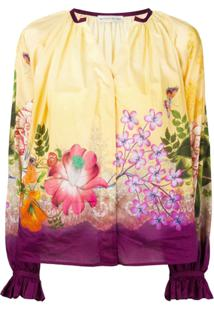 Etro Blusa Com Estampa Floral - Amarelo