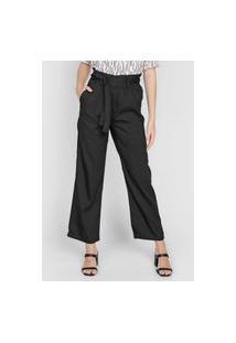 Calça Dzarm Pantalona Amarração Preta