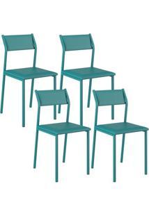 Cadeira 1709 Color Uv 04 Unidades Turquesa Carraro
