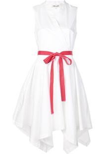 Dvf Diane Von Furstenberg Vestido Envelope Com Cinto - Branco