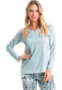 Pijama Alice Longo - Azul Claro/P
