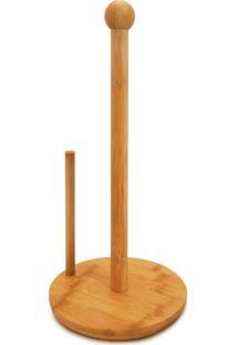 Suporte Para Papel Toalha Bambu 16X16X34Cm Tyft Yoi
