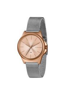 Kit Relógio Feminino Lince Lrt4650L-Kx50R1Sx Analógico 5Atm + Pulseira | Lince | Prata | U