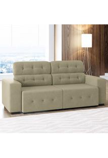 Sofá De 4 Lugares Blanc – Linoforte Moveis - Bege