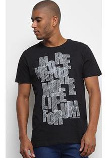 Camiseta Forum More Life Masculina - Masculino-Preto