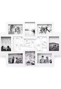 Painel De Fotos Led Amizade Branco